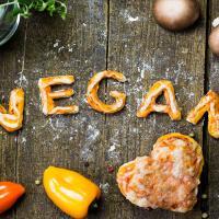 Healthy vegan food